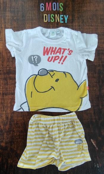 Pyjama court Winnie l'ourson 6 mois