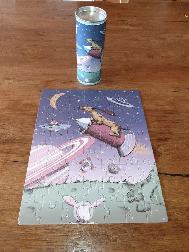 Puzzle animaux dans l'espace