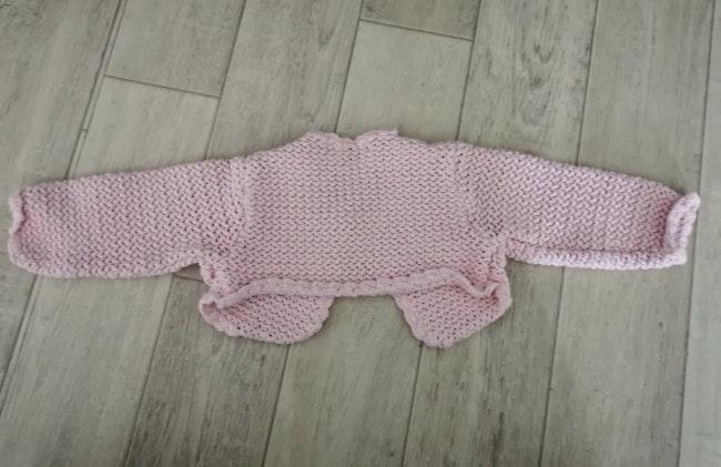 Boléro rose Mini Adeli 6 mois