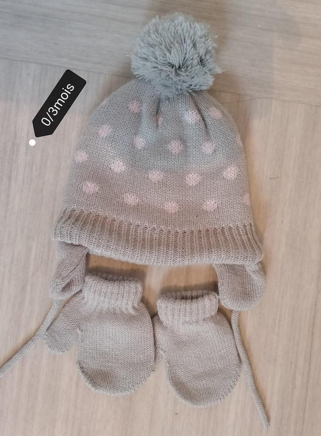 Bonnet +gants kiabi