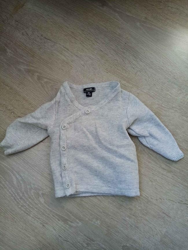 Gilet coton 1 mois gris