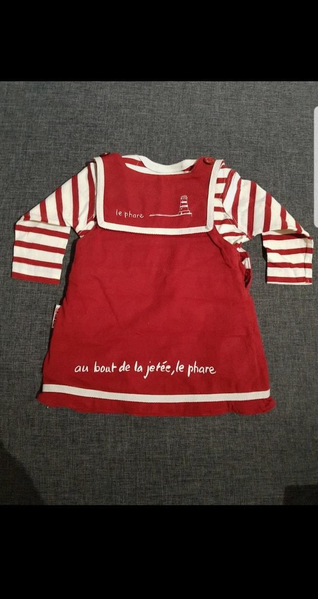 Ensemble 2 pièces bébé fille (Robe + T-shirt manches longues) 3 mois