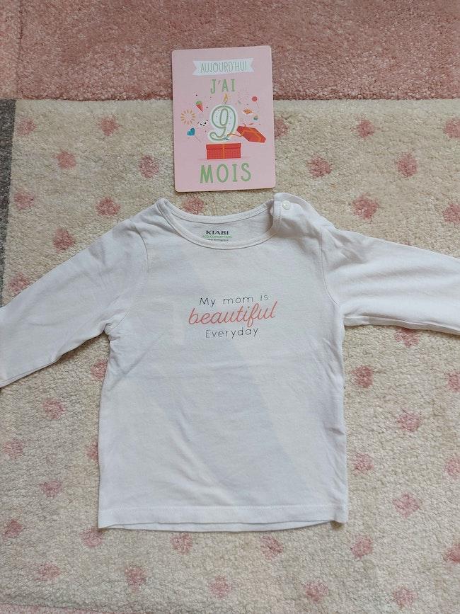 Tee-shirt ml kiabi 9 mois