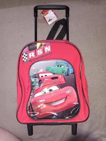 Sac à dos à roulettes maternelle Cars Disney Pixar