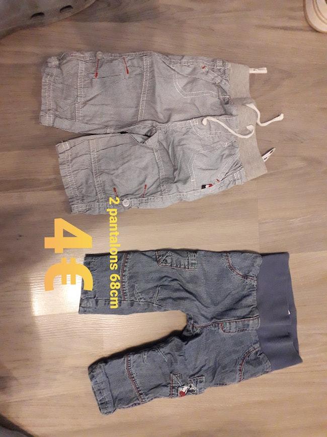 2 pantalons 68cm