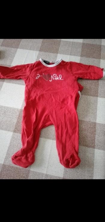 Pijama 6 mois Noël La redoute en coton