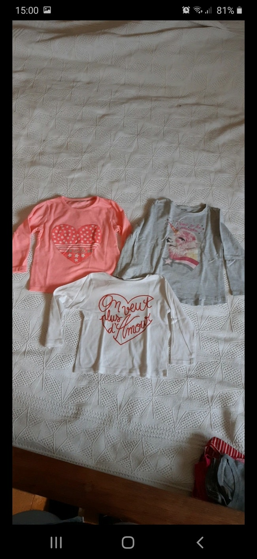 Lot 3 tee-shirts manches longues