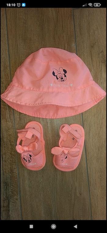Ensemble chapeau sandales bébé fille 6 mois