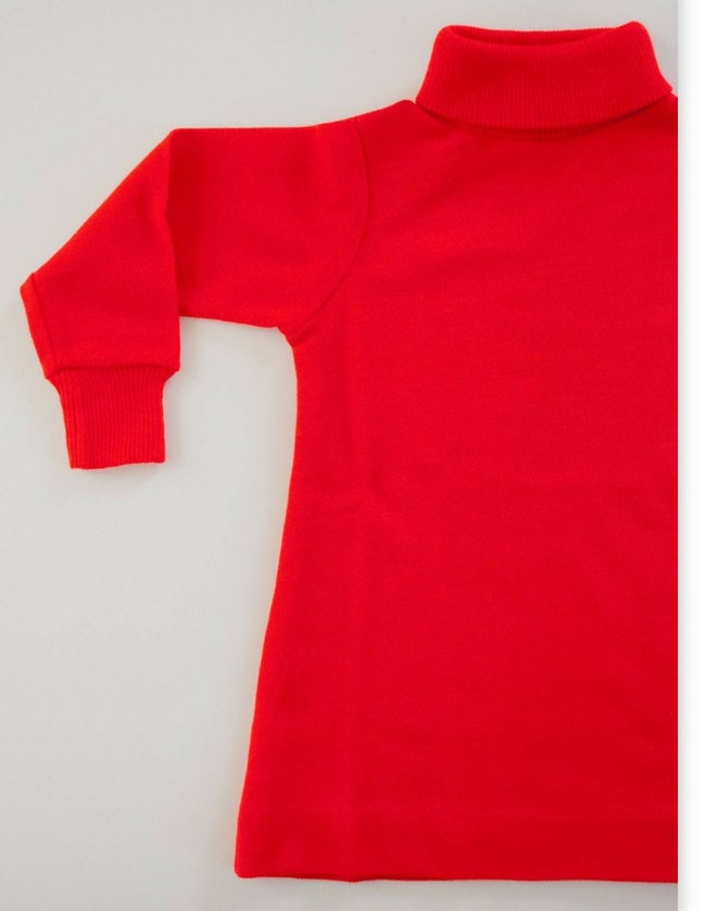 Robe tunique trapèze col roulé