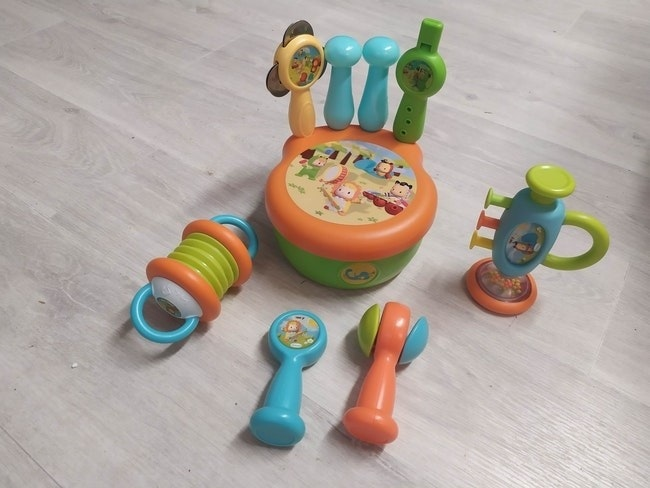 Set instruments de musique en plastique 1er âge Smoby