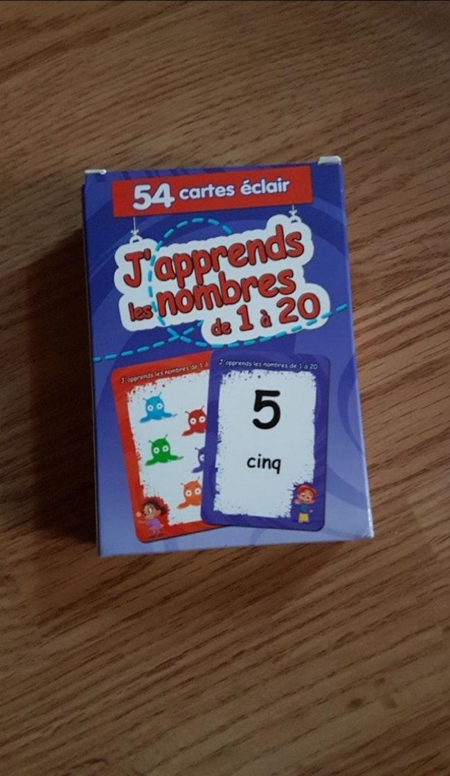 Jeu de cartes pour l'apprentissage des nombres