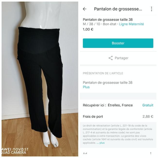 Pantalon de grossesse taille 38