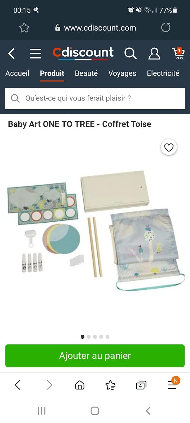 Baby art coffret one two three neuf