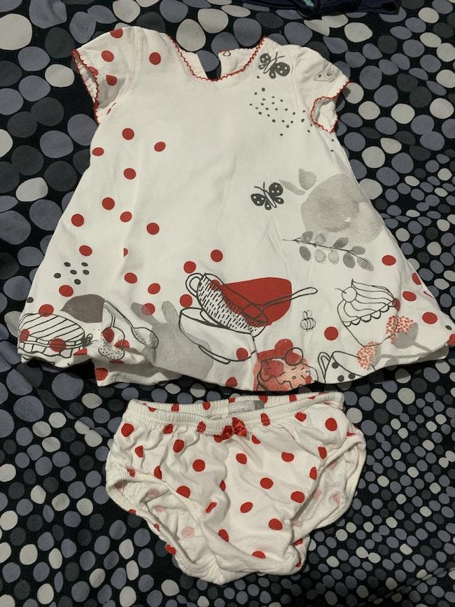 Robe bloomer Catimini 6 mois