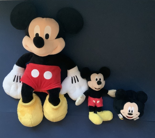 Lot de 3 peluches Mickey Mouse