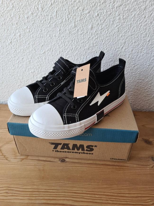 basket noire et blanc Tams