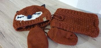 Ensemble bonnet gants snood