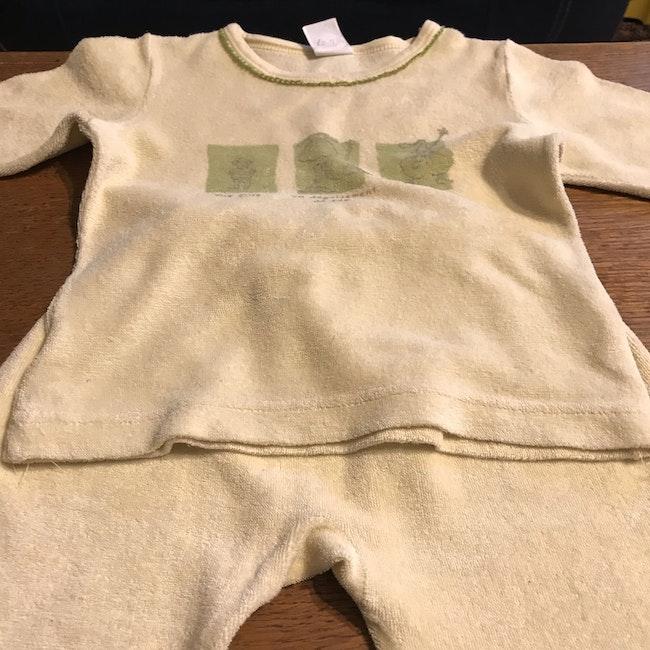 Pyjama en éponge pour fille