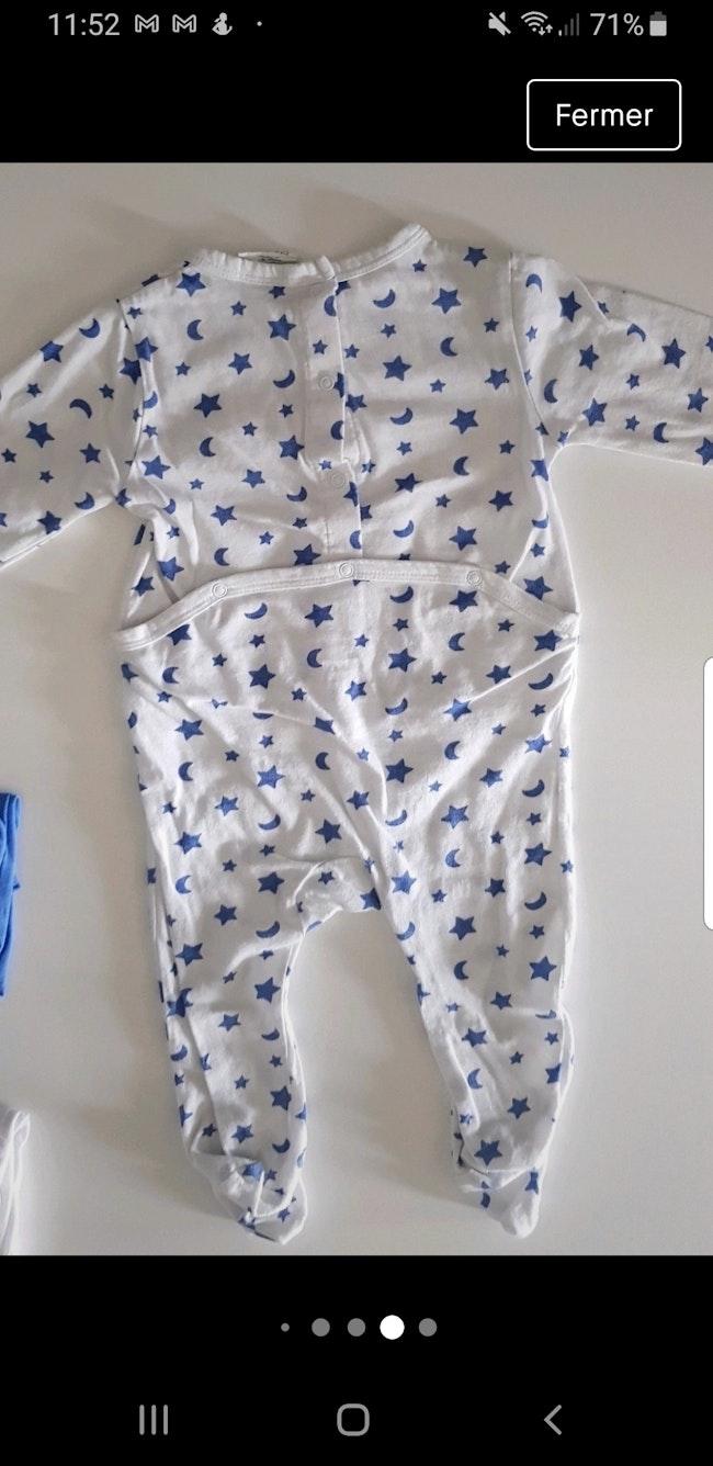 Lot 3 pyjama Kiabi 6m