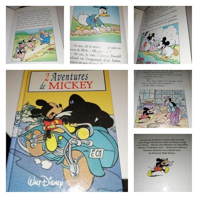 Livres 2 aventures de Mickey Vintage