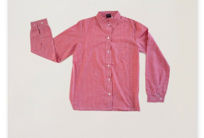 Chemise vichy rouge / 12 ans