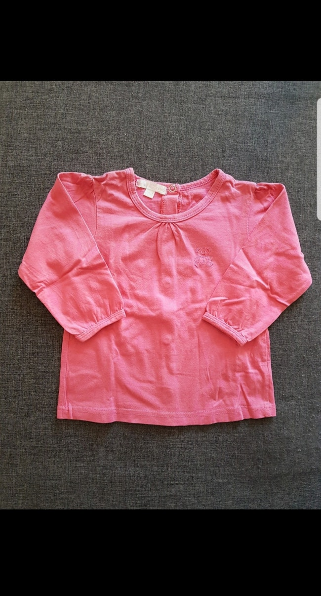 Tee-shirt manches longues fille 18 mois