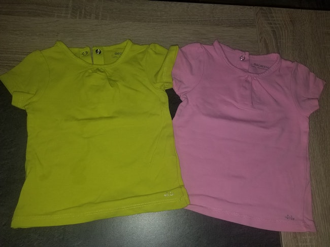 Lot 2 tee-shirts manches courtes