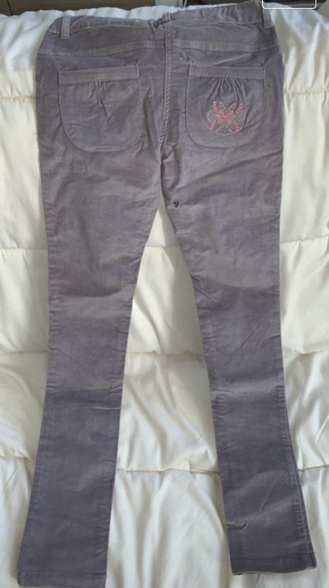 Pantalon touché velour
