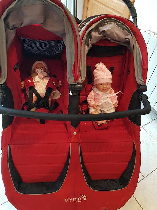 Poussette double jumeaux