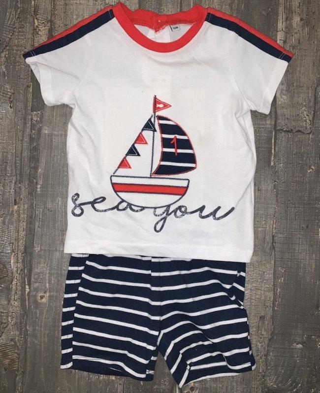 Ensemble t-shirt short 12 mois