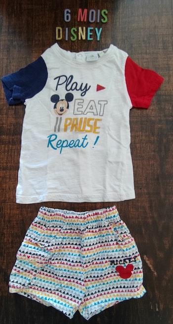 Pyjama court Mickey 6mois
