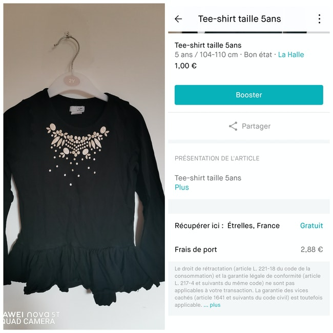 Tee-shirt taille 5ans