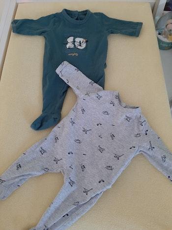 Pyjamas coton vert baudet