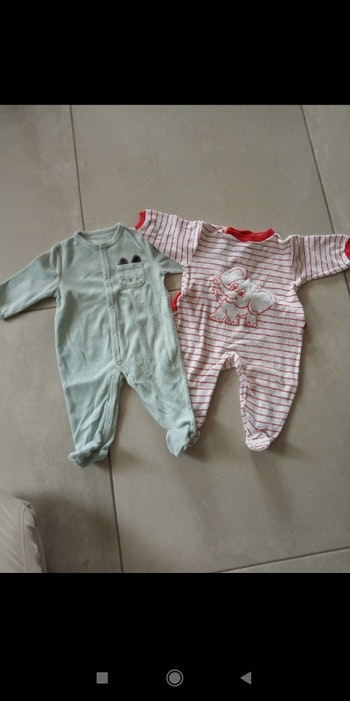 Lot pyjama hiver 6 mois