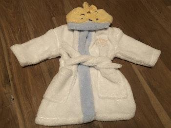 Robe de chambre blanche avec capuche winnie l'ourson Disney C&A 12/18 mois