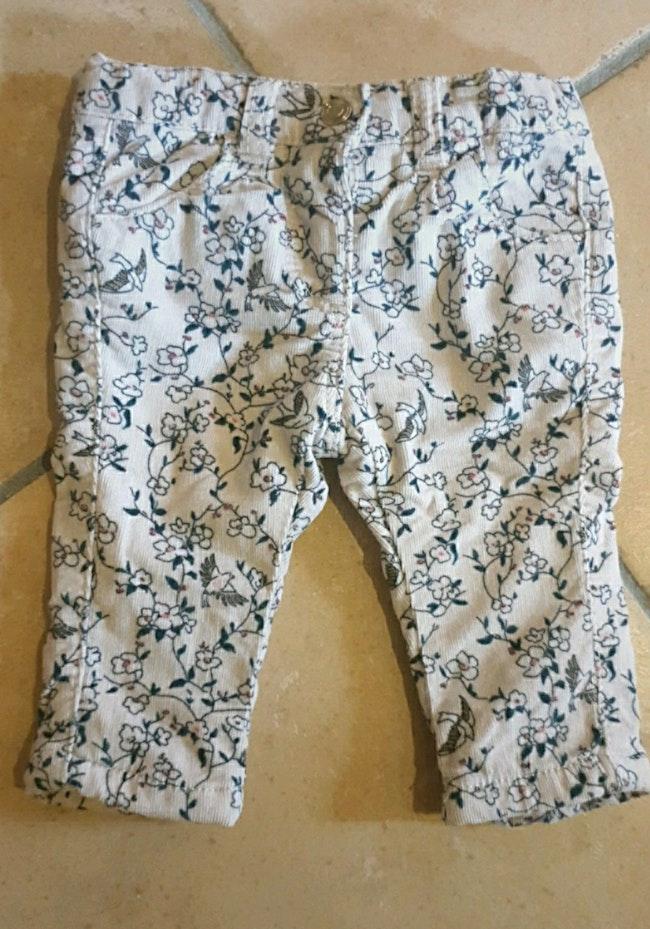 Lot de 2 pantalon et 1 tee-shirt manche longue tape à l'œil, bébé fille 3 mois