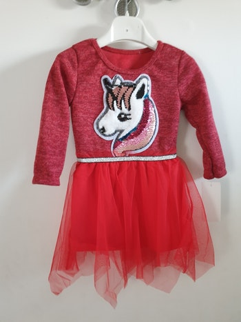 Robe licorne rouge