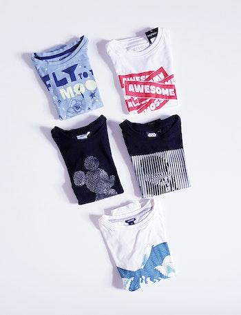 🦎 Lot 5 t-shirts à manches longues - Kiabi/Disney/Star Wars/In Extenso - 5 ans 🦎