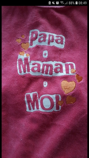Pyjama 1 mois fille papa + maman