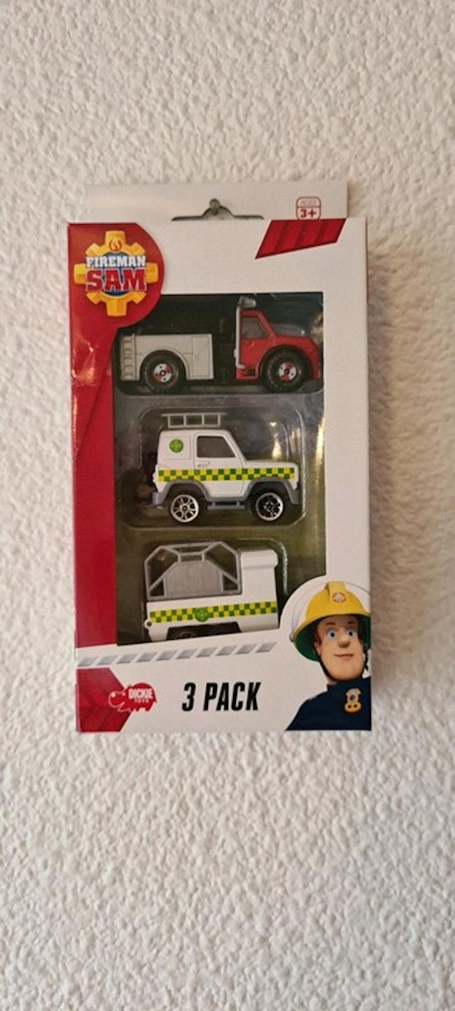 lot de 3 véhicules sam le pompier smoby