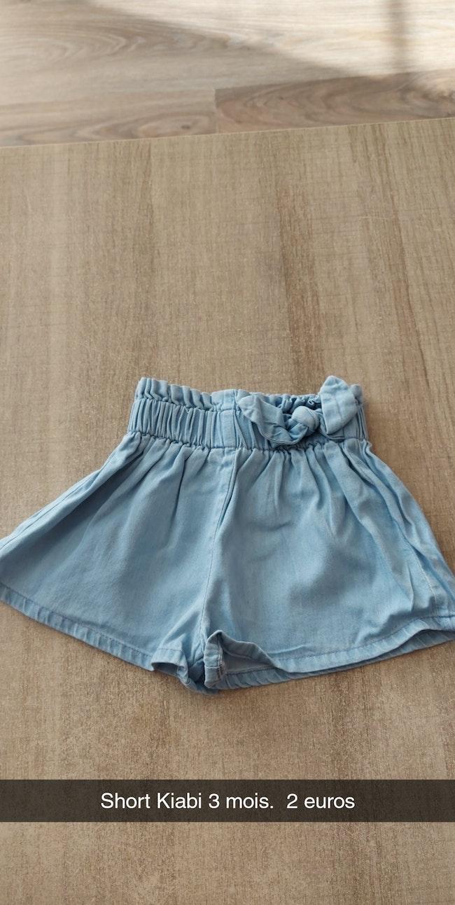 Short jean 3 mois