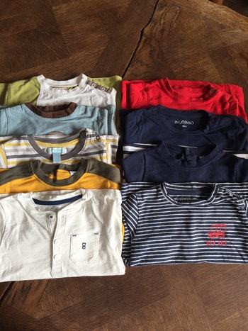 Lot 9 tee shirts manches longues - 12 Mois