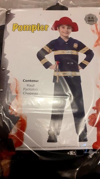 Deguisement pompier 4/6ans neuf