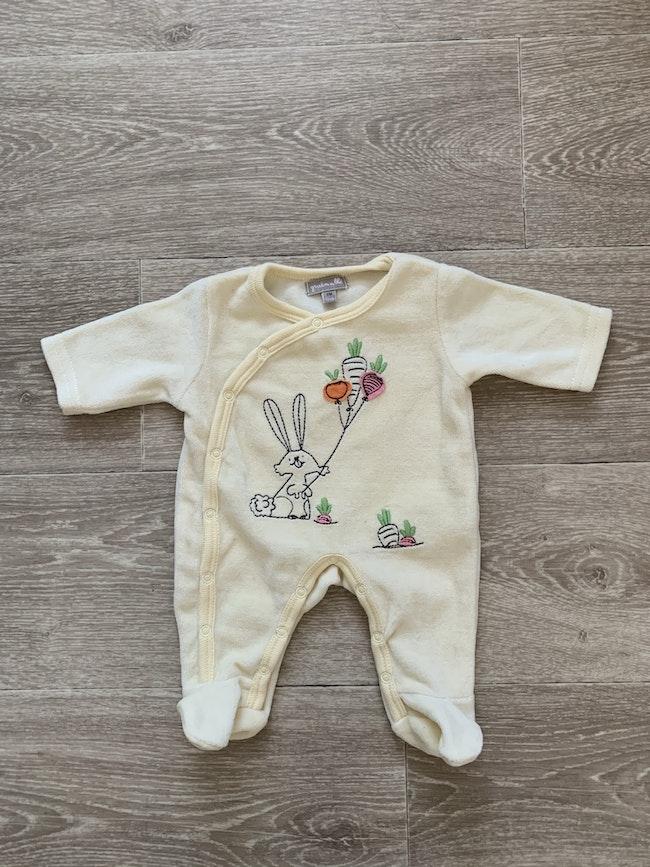 Pyjama velours tout doux - nouveau né