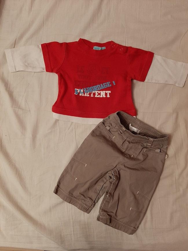 T shirt pantalon 3 mois