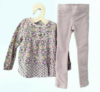 4 ans fille ensemble blouse et pantalon