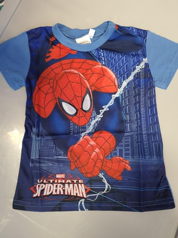 Tee-shirt spiderman bleu 3 ans