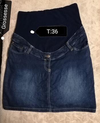 Jupe jeans maternité coline