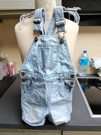 Salopette en jeans bleu clair
