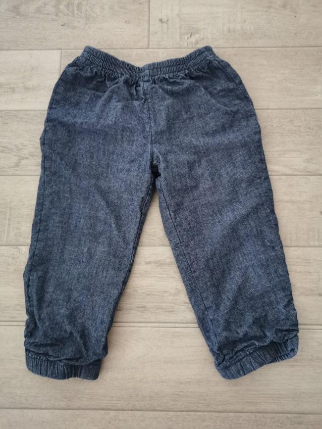 Pantalon jean taille élastique 23 mois